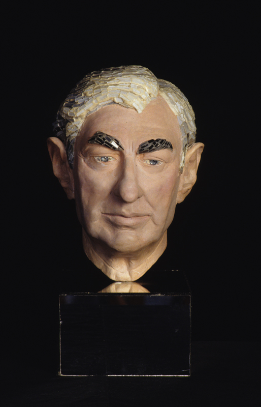 Count Paolo Marzotto, 1998, bust by glass and mosaic artist Andrew Logan
